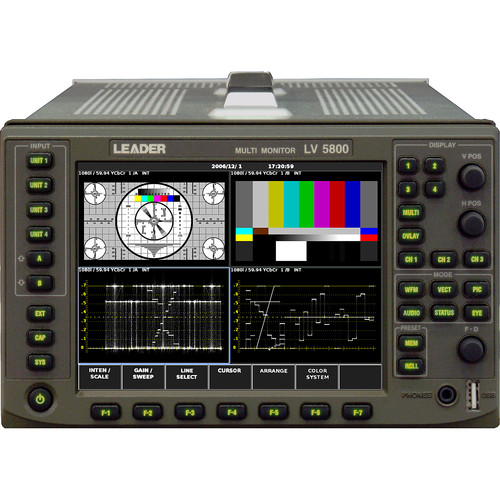 Leader LV5800A HD/SD-SDI Multi Monitor Platform with Up to 4 Inputs