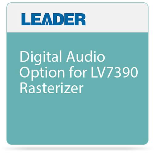 Leader Digital Audio Option for LV7390 Rasterizer