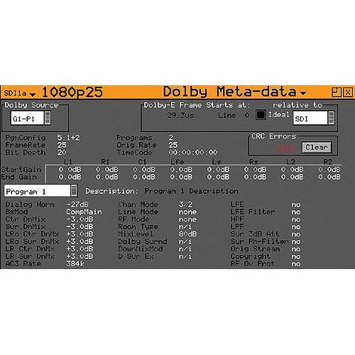 PHABRIX Dolby E Analysis Option for Phabrix PHRXM-AE, AEE, AGE Module