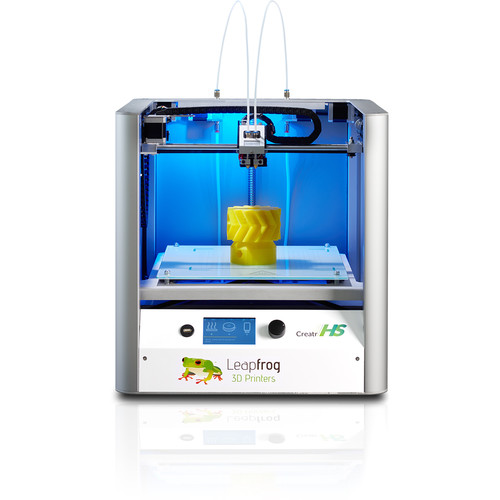 Leapfrog Creatr HS 3D Printer with Standalone 3D Printer Controller, 3D Printed Science Projects Book, 3D Printing Pen, & Black/White/Red Filament Kit