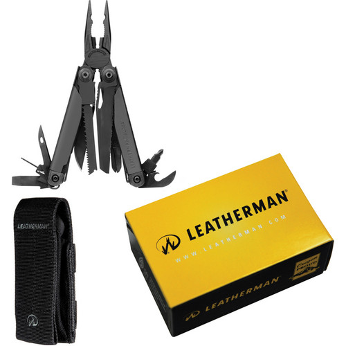 Leatherman Surge Multi-Tool with Cap Crimper and Black MOLLE Sheath (Black Oxide)