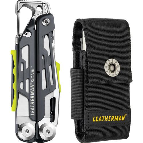 Leatherman Gray Signal Multi-Tool (Black Nylon Sheath,Clamshell Packaging)