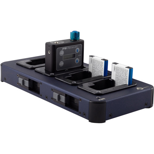 Lectrosonics CHSIFBR1B 4-Bay Charging Station for IFBR1B Receivers and LB-50 Batteries