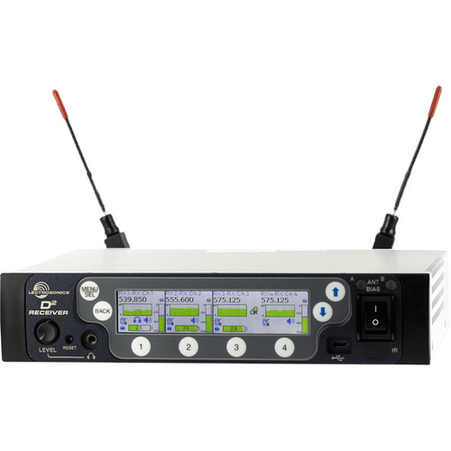 Lectrosonics DSQD 4-Channel Digital Wireless Receiver (470 to 608 MHz)