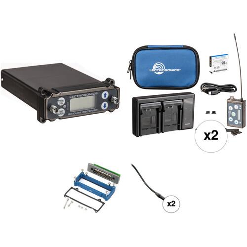 Lectrosonics Dual Wireless, Slot-Mount ENG Wireless Microphone Kit (470.100 to 537.5 MHz)