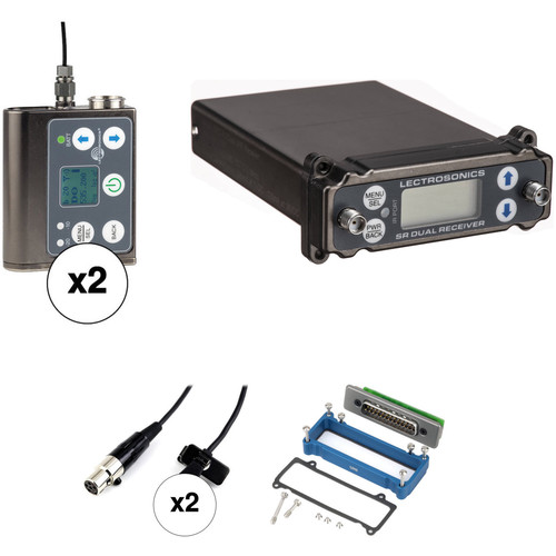Lectrosonics SRc/SMWB Dual Transmitter and Receiver with Unislot Camera Mount ENG Kit (A1: 470.100 to 537.575 MHz)