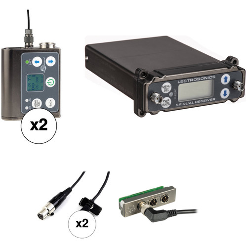 Lectrosonics 2-Person SRc Wireless Omni Lavalier Microphone System Kit for Standalone Use (A1: 470 to 537 MHz)