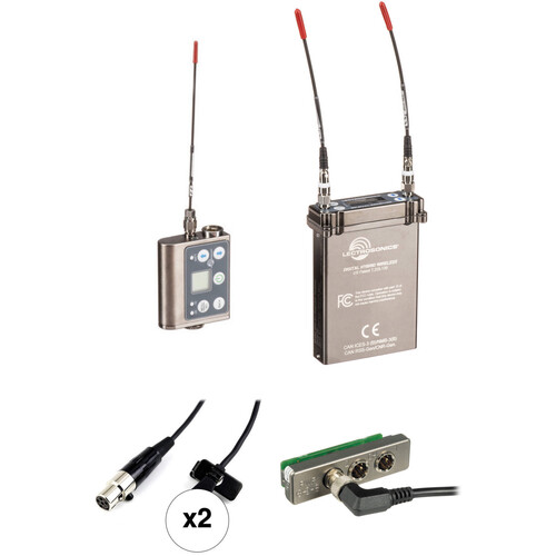 Lectrosonics 2-Person SRc Wireless Omni Lavalier Microphone System Kit for Standalone Use (B1: 537 to 607 MHz)