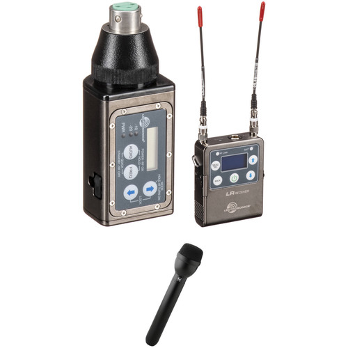 Lectrosonics L Series Camera-Mount Wireless Plug-On Microphone System with RE50B Handheld Mic Kit (B1: 537 to 607 MHz)