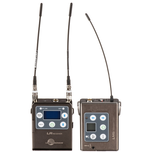 Lectrosonics L Series ZS-LRLMb Camera-Mount Wireless Omni Lavalier Microphone System (A1: 470 to 537 MHz)