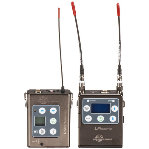 Lectrosonics L Series ZS-LRLMb Camera-Mount Wireless Omni Lavalier Microphone System (B1: 537 to 607 MHz)