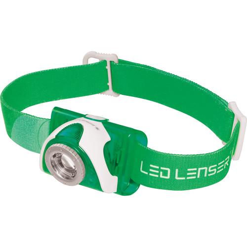 LEDLENSER SEO 3.2 Headlamp (Green,Clamshell Packaging)