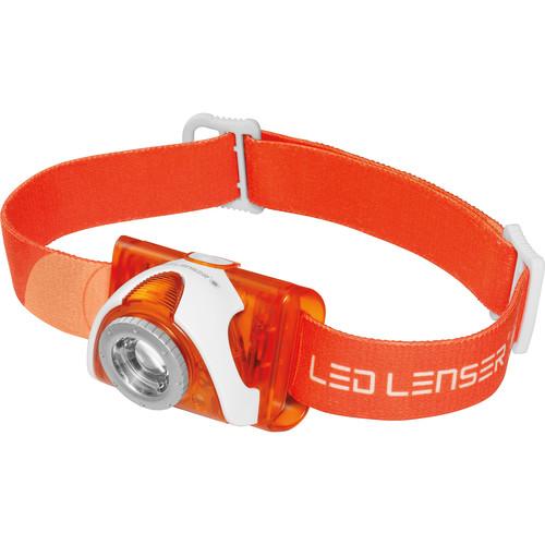 LEDLENSER SEO 3.2 Headlamp (Orange,Clamshell Packaging)