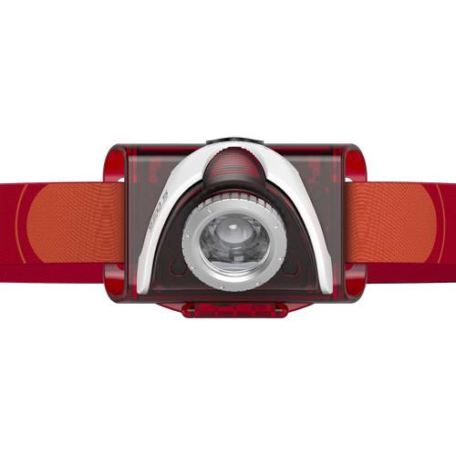 LEDLENSER SEO 5.2 Headlamp (Red,Clamshell Packaging)