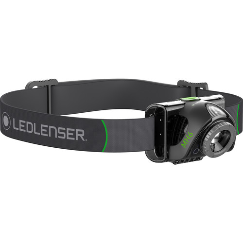 LEDLENSER MH6 Rechargeable LED Headlamp (Black)