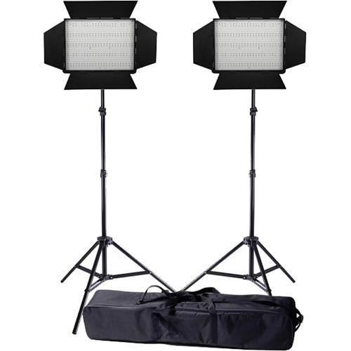 Ledgo Pro Series LED Bi-Color 1200 2-Light Kit with Stands and Bag