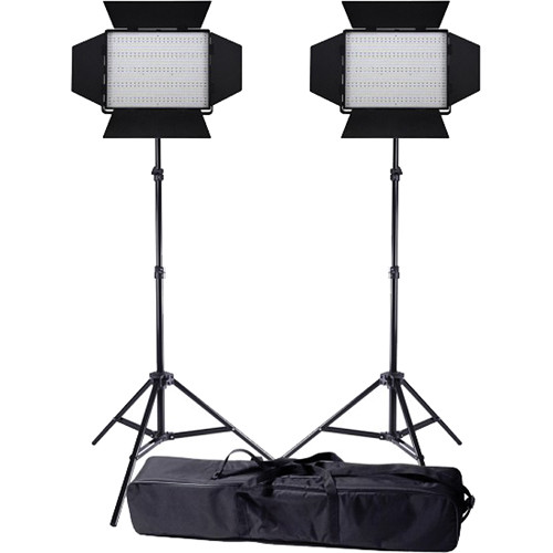 Ledgo Pro Series LED Daylight 1200 2-Light Kit with Stands and Bag