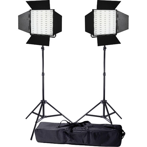 Ledgo Pro Series LED Bi-Color Panel 600 2-Light Kit with Stands and Bag