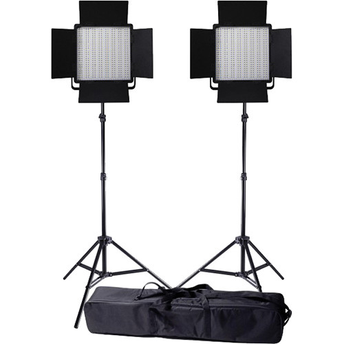 Ledgo Value Series LED Bi-Color 600 2-Light Kit with Stands and Bag