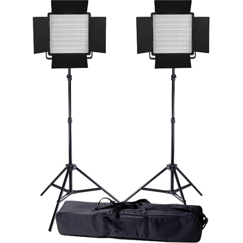 Ledgo Value Series LED Daylight 600 2-Light Kit with Stands and Bag