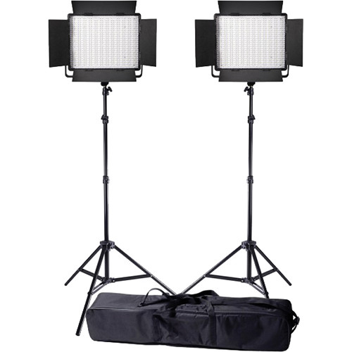 Ledgo Value Series LED Bi-Color 900 2-Light Kit with Stands and Bag