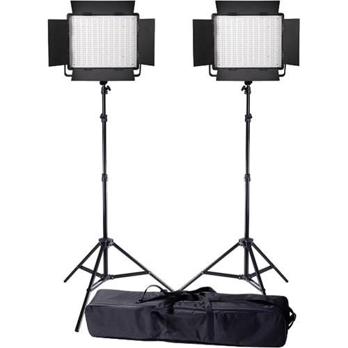 Ledgo Value Series LED Daylight 900 2-Light Kit with Stands and Bag