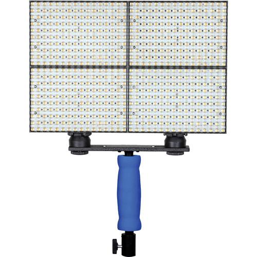 Ledgo 160 LED Bi-Color On-Camera Light Set with Handle (4-Pack)
