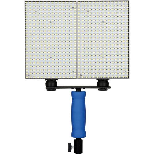 Ledgo 308 LED Bi-Color On-Camera Light Set with Handle (2-Pack)