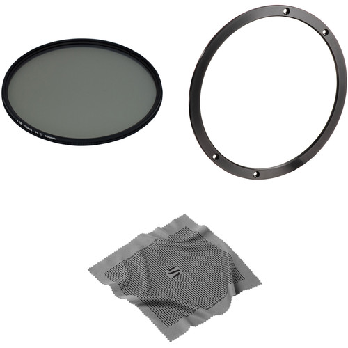 LEE Filters 105mm Landscape Circular Polarizer Filter Kit with Accessory Ring for 100mm System and Microfiber Lens Cleaning Cloth