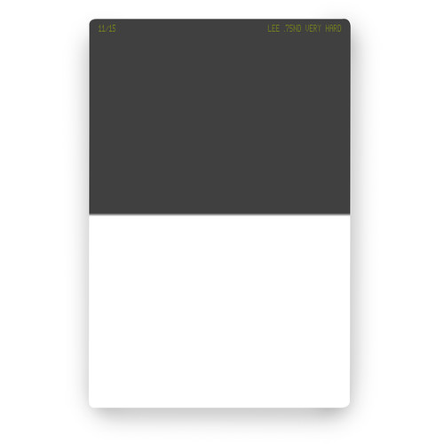 LEE Filters 100 x 150mm Very Hard-Edge Graduated Neutral Density 0.75 Filter (2.5-Stop)