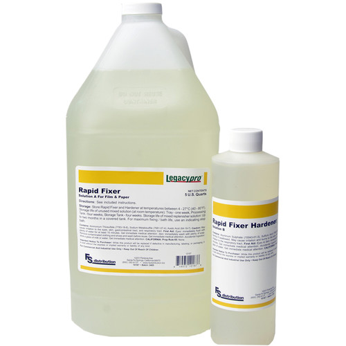 Legacy Pro Liquid Rapid Fixer with Hardener for Black & White Film and Paper (Makes 5 gal)