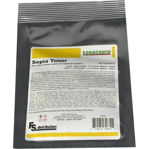 Legacy Pro Sepia Toner II Powder for Black & White Prints (Makes 1 Quart)