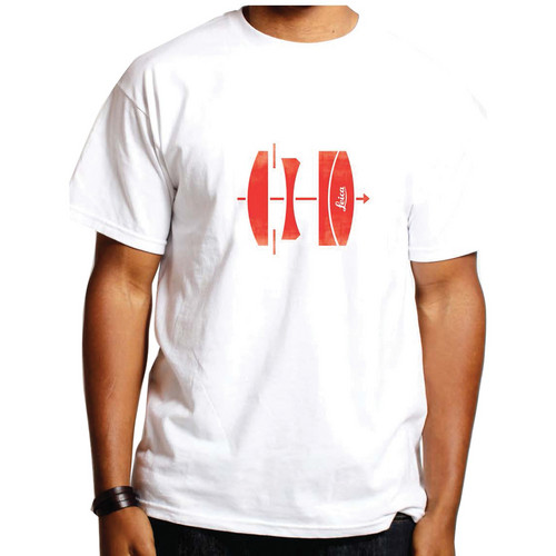 Leica Lens T-Shirt (Large, Red on White)
