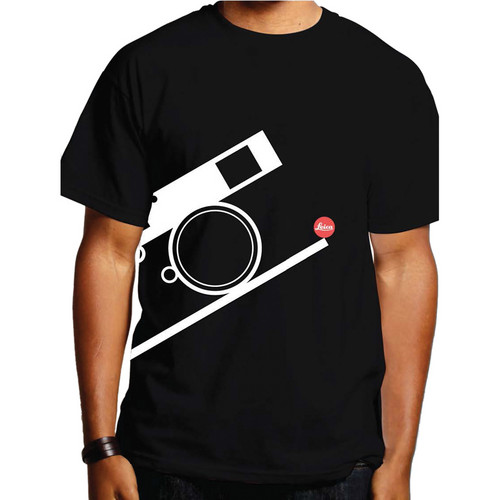 Leica Bauhaus T-Shirt (Large, White on Black)