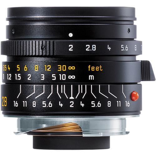 Leica Summicron-M 28mm f/2.0 Lens (6-Bit, Manual Focus)