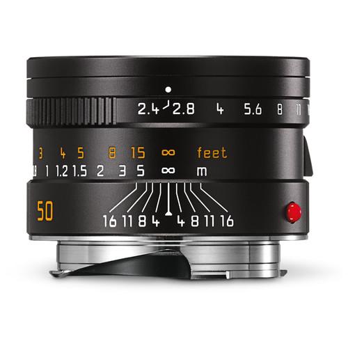 Leica Summarit-M 50mm f/2.4 Lens (Black)