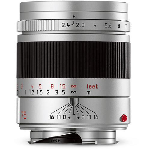 Leica Summarit-M 75mm f/2.4 Lens (Silver)