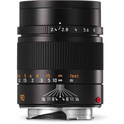 Leica Summarit-M 90mm f/2.4 Lens (Black)