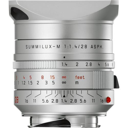 Leica Summilux-M 28mm f/1.4 ASPH. Lens (Silver Anodized)