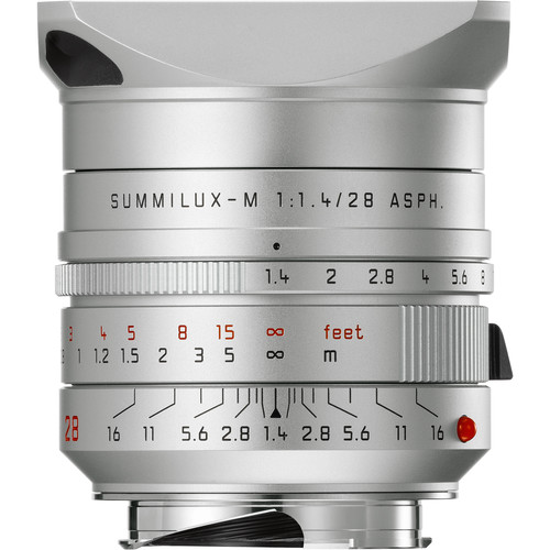 Leica Summilux-M 28mm f/1.4 ASPH. Lens (Silver Anodized)