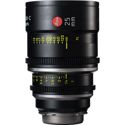 Leitz Cine 25mm T1.4 Summilux-C Lens (PL Mount, Marked in Feet)