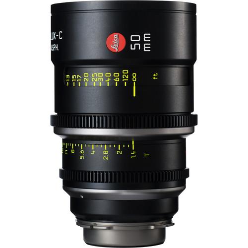 Leitz Cine 50mm T1.4 Summilux-C Lens (PL Mount, Marked in Feet)