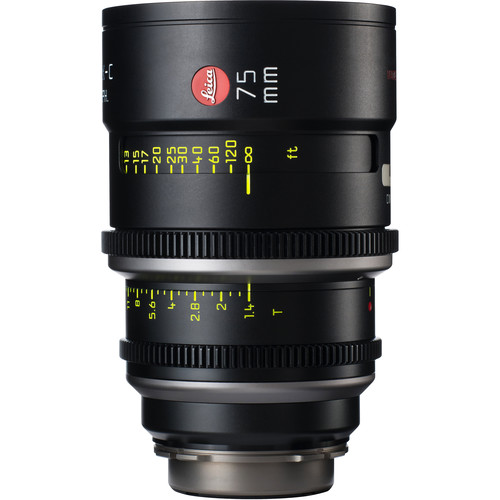Leica 75mm T1.4 Summilux-C Lens (PL Mount, Marked in Feet)