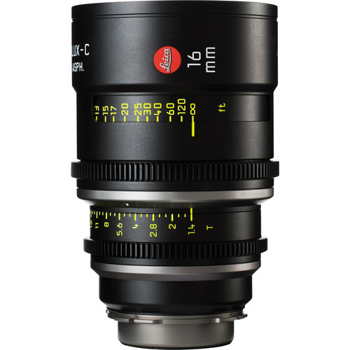 Leica 16mm T1.4 Summilux-C Lens (PL Mount, Marked in Feet)