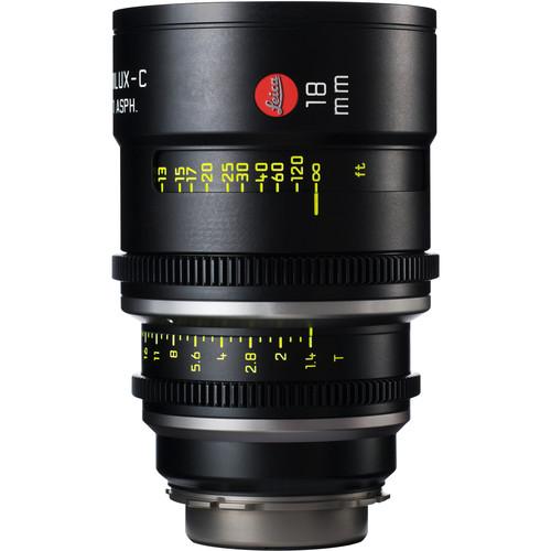 Leitz Cine 18mm T1.4 Summilux-C Lens (PL Mount, Marked in Feet)
