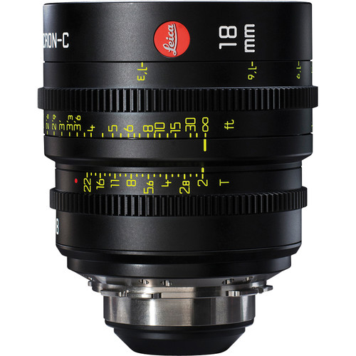 Leica 18mm T2.0 Summicron-C Lens (PL Mount, Marked in Feet)