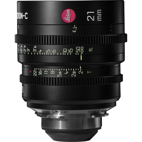 Leica 21mm T2.0 Summicron-C Lens (PL Mount, Marked in Feet)