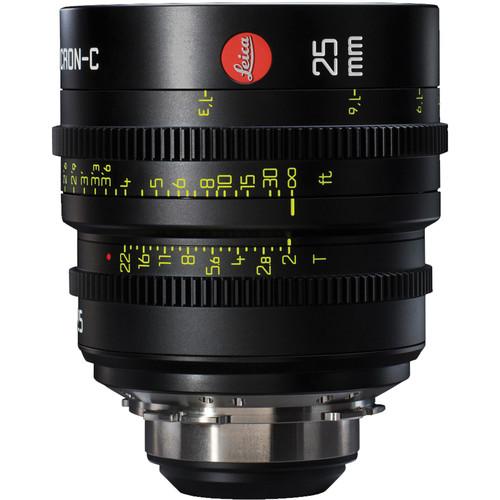 Leitz Cine 25mm T2.0 Summicron-C Lens (PL Mount, Marked in Feet)