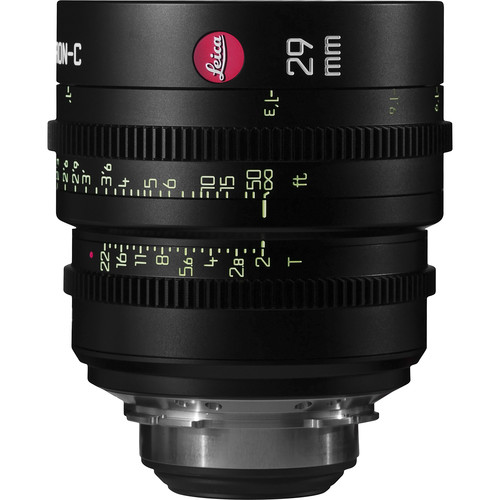 Leitz Cine 29mm T2.0 Summicron-C Lens (PL Mount, Marked in Feet)