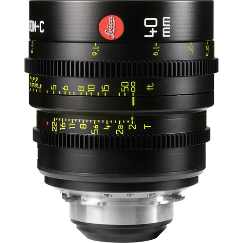 Leica 40mm T2.0 Summicron-C Lens (PL Mount, Marked in Feet)